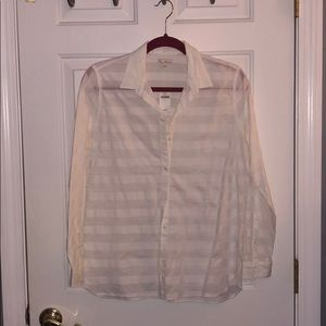 Gap Striped White Button-Up